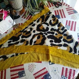 Mustard yellow leopard Wrap